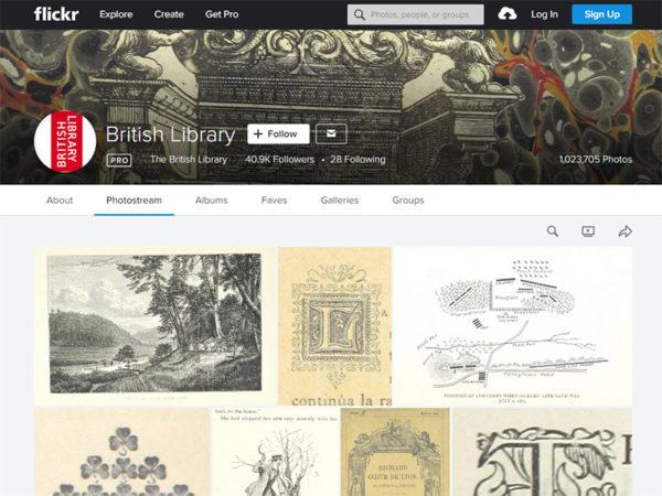 大英図書館のFlickr